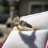 1.26ctw Old European Cut and Baguette Ring 22