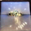 1.26ctw Old European Cut and Baguette Ring 52