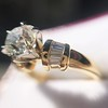 1.26ctw Old European Cut and Baguette Ring 61