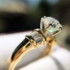 1.26ctw Old European Cut and Baguette Ring 30
