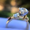 1.26ctw Old European Cut and Baguette Ring 62