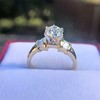 1.26ctw Old European Cut and Baguette Ring 50