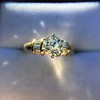 1.26ctw Old European Cut and Baguette Ring 21