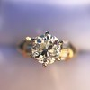 1.26ctw Old European Cut and Baguette Ring 53