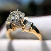 1.26ctw Old European Cut and Baguette Ring 29