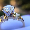 1.26ctw Old European Cut and Baguette Ring 63