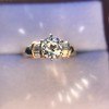 1.26ctw Old European Cut and Baguette Ring 7