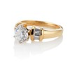 1.26ctw Old European Cut and Baguette Ring 1