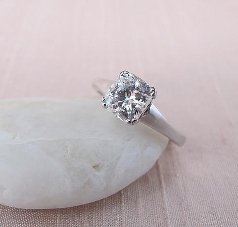 1.31ct Cushion Cut Diamond Solitaire