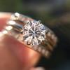 1.31tcw Round Brilliant Diamond Wedding Set, Est to be H, SI2      9
