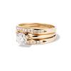 1.31tcw Round Brilliant Diamond Wedding Set, Est to be H, SI2      2
