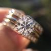 1.31tcw Round Brilliant Diamond Wedding Set, Est to be H, SI2      11