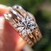 1.31tcw Round Brilliant Diamond Wedding Set, Est to be H, SI2      13