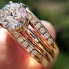 1.31tcw Round Brilliant Diamond Wedding Set, Est to be H, SI2      8
