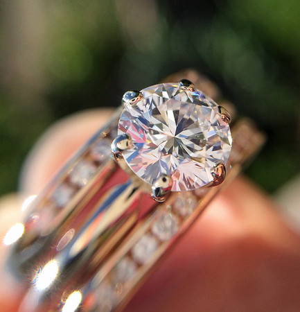 1.31ctw Round Brilliant Cut Diamond Wedding Set