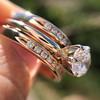 1.31tcw Round Brilliant Diamond Wedding Set, Est to be H, SI2      14