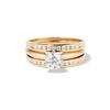 1.31tcw Round Brilliant Diamond Wedding Set, Est to be H, SI2      0