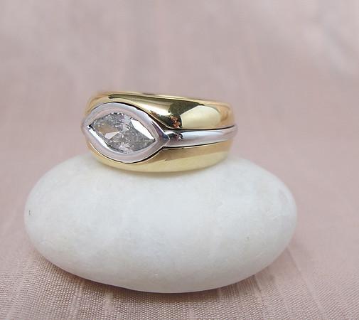 1.33ct Unisex Marquise Diamond Ring