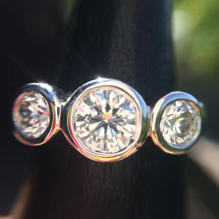 1.41tcw Round Brilliant 3-Stone Ring