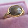 1.56ct Rustic Rose Cut Diamond Bezel Ring, by Single Stone 10