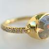 1.56ct Rustic Rose Cut Diamond Bezel Ring, by Single Stone 14