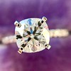 1.60ct Cushion Cut Solitaire, A Blue Nile Signature Cut GIA I SI1 18