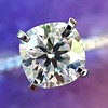 1.60ct Cushion Cut Solitaire, A Blue Nile Signature Cut GIA I SI1 5