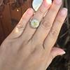 1.63ct Fancy Intense Yellow Radiant Diamond Halo Ring 34