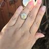 1.63ct Fancy Intense Yellow Radiant Diamond Halo Ring 32