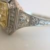 1.63ct Fancy Intense Yellow Radiant Diamond Halo Ring 21