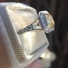 1.63ct Fancy Intense Yellow Radiant Diamond Halo Ring 26