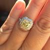 1.63ct Fancy Intense Yellow Radiant Diamond Halo Ring 29