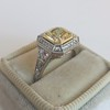 1.63ct Fancy Intense Yellow Radiant Diamond Halo Ring 5