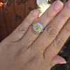 1.63ct Fancy Intense Yellow Radiant Diamond Halo Ring 33