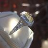 1.63ct Fancy Intense Yellow Radiant Diamond Halo Ring 28