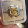 1.63ct Fancy Intense Yellow Radiant Diamond Halo Ring 25