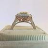 1.63ct Fancy Intense Yellow Radiant Diamond Halo Ring 10