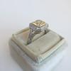 1.63ct Fancy Intense Yellow Radiant Diamond Halo Ring 35