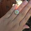 1.63ct Fancy Intense Yellow Radiant Diamond Halo Ring 6