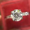 1.70ct Round Brilliant Diamond Soliatire, AGS000 H VS2 12