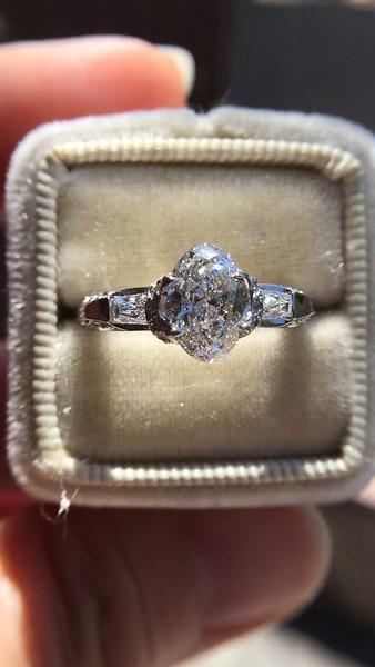1.19ct Oval Cut Diamond, Verragio Solitaire