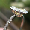 2.01ct Fancy Yellow Pear Diamond Halo Ring by DBL GIA SI1 9