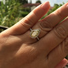 2.01ct Fancy Yellow Pear Diamond Halo Ring by DBL GIA SI1 18