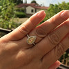 2.01ct Fancy Yellow Pear Diamond Halo Ring by DBL GIA Fancy Yellow SI1 17