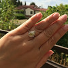 2.01ct Fancy Yellow Pear Diamond Halo Ring by DBL GIA Fancy Yellow SI1 16