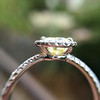 2.01ct Fancy Yellow Pear Diamond Halo Ring by DBL GIA Fancy Yellow SI1 8