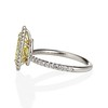 2.01ct Fancy Yellow Pear Diamond Halo Ring by DBL GIA Fancy Yellow SI1 3