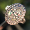 2.02ct Oval Diamond Halo Ring GIA I, Si1 9