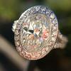 2.02ct Oval Diamond Halo Ring GIA I, Si1 1