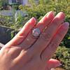 2.02ct Oval Diamond Halo Ring GIA I, Si1 10